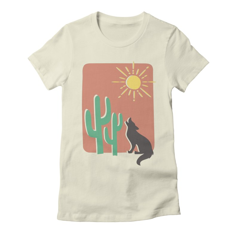 In the desert Women's Fitted T-Shirt by heyale's Artist Shop