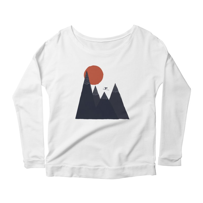 To the infinite Women's Longsleeve Scoopneck  by heyale's Artist Shop