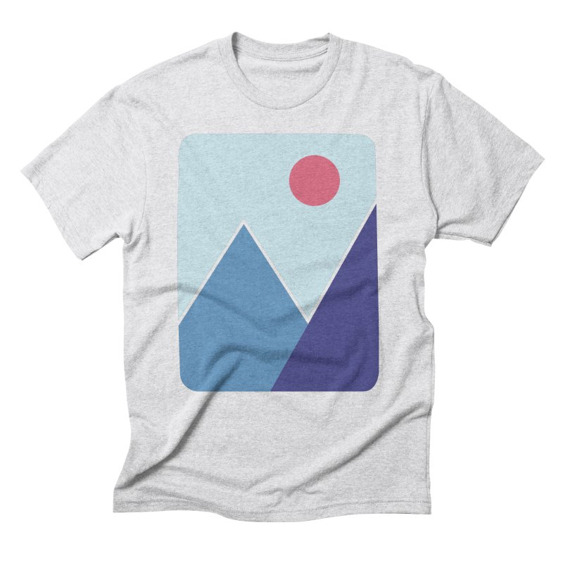 Cold Mountains in Men's Triblend T-shirt Heather White by heyale's Artist Shop