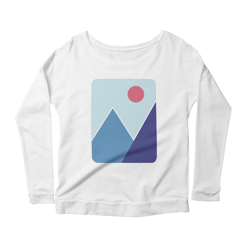 Cold Mountains Women's Longsleeve Scoopneck  by heyale's Artist Shop