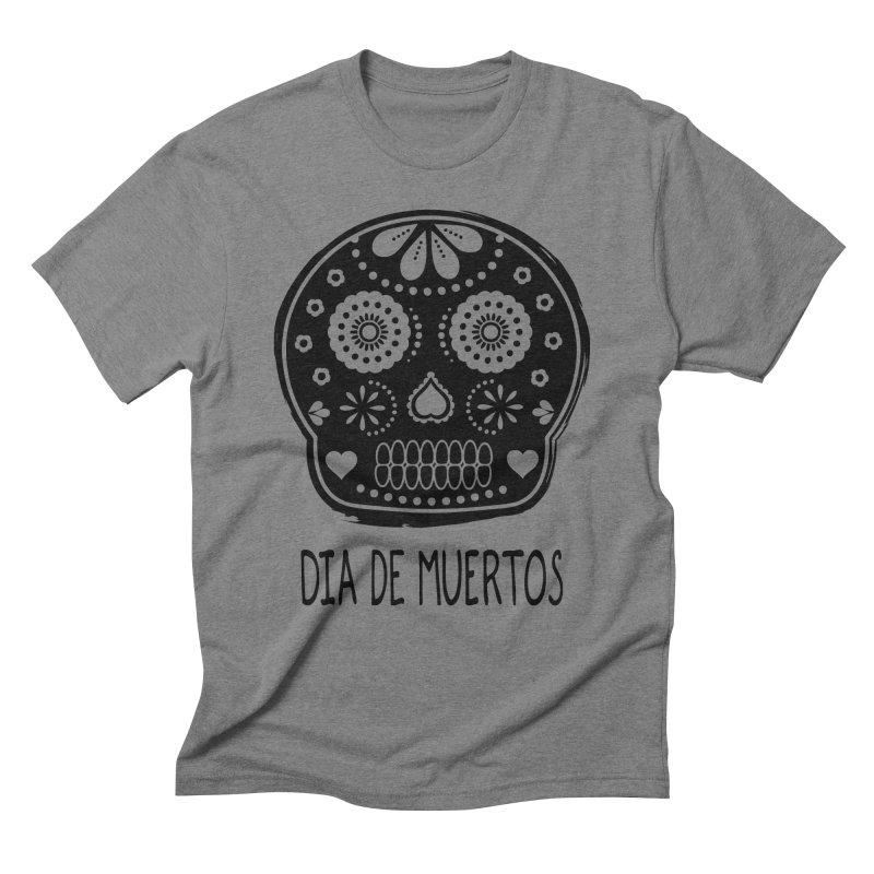 Dia de Muertos in Men's Triblend T-shirt Grey Triblend by heyale's Artist Shop