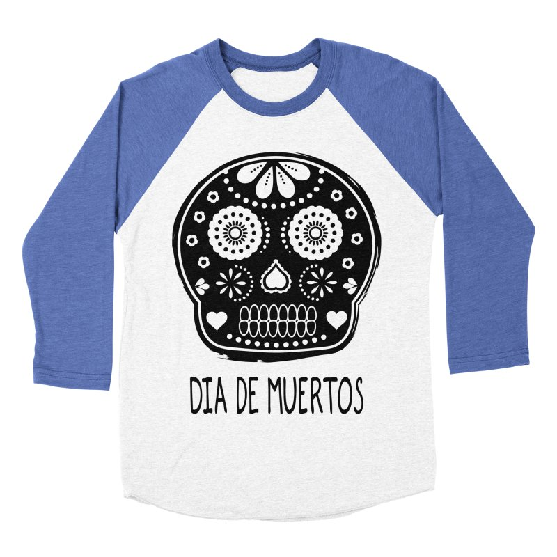Dia de Muertos Women's Baseball Triblend T-Shirt by heyale's Artist Shop