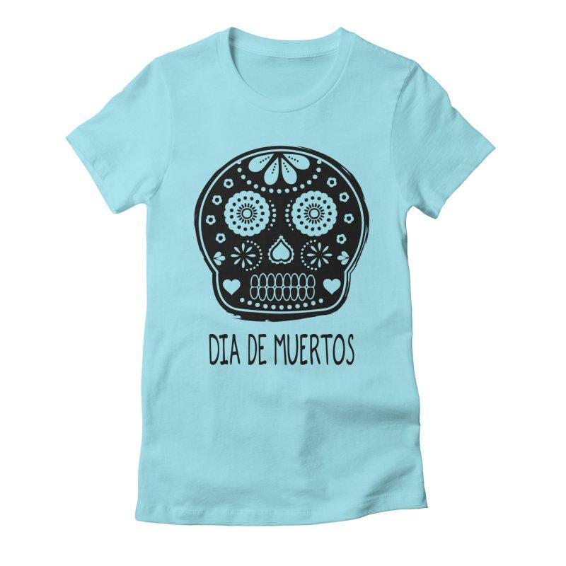 Dia de Muertos Women's Fitted T-Shirt by heyale's Artist Shop