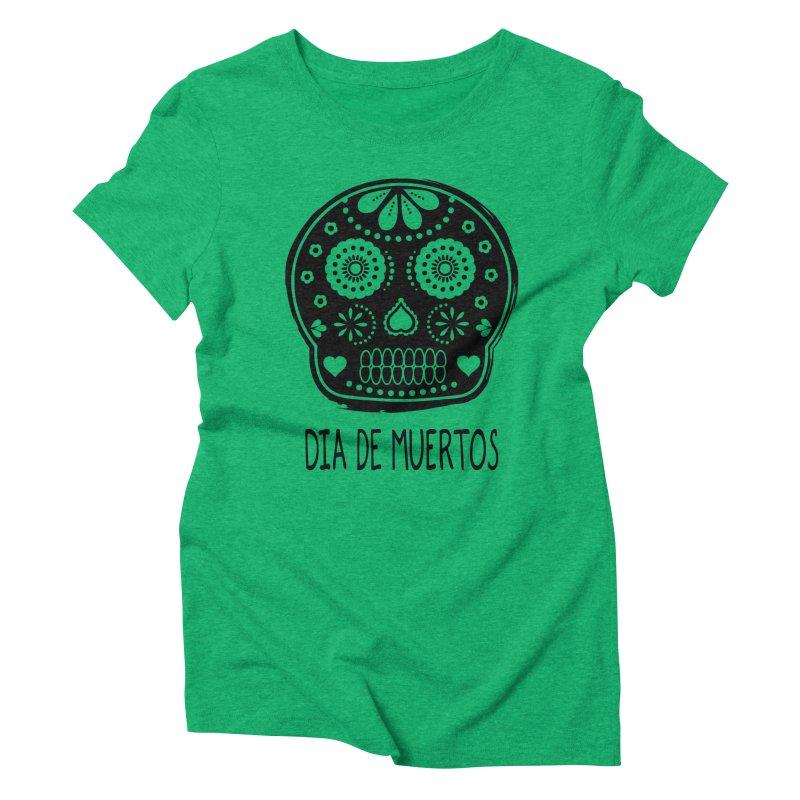 Dia de Muertos Women's Triblend T-shirt by heyale's Artist Shop
