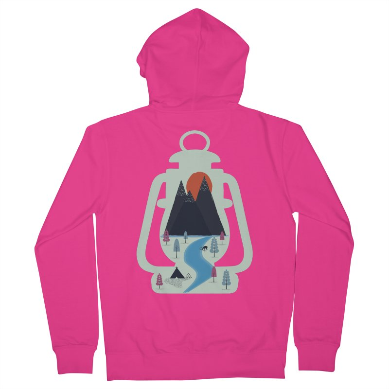 Camping Men's Zip-Up Hoody by heyale's Artist Shop