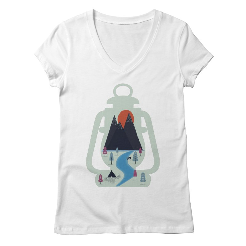 Camping Women's V-Neck by heyale's Artist Shop