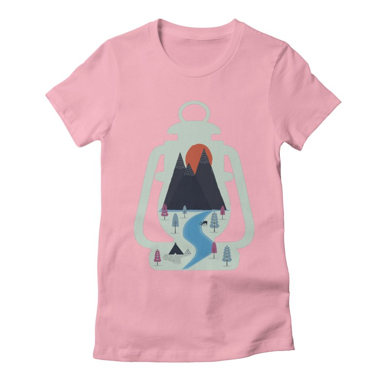 Camping Women's Fitted T-Shirt by heyale's Artist Shop