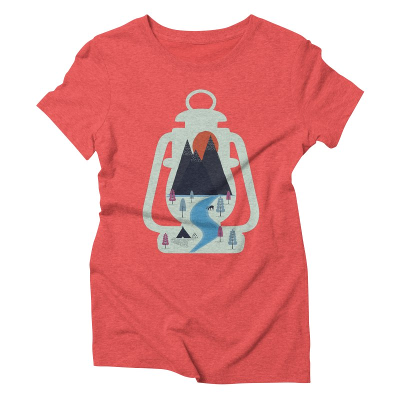 Camping Women's Triblend T-shirt by heyale's Artist Shop