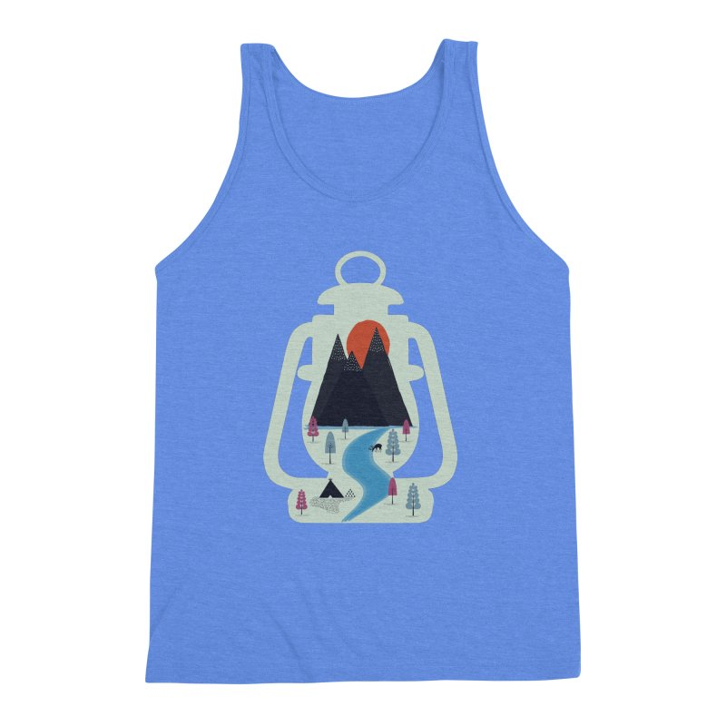Camping Men's Triblend Tank by heyale's Artist Shop