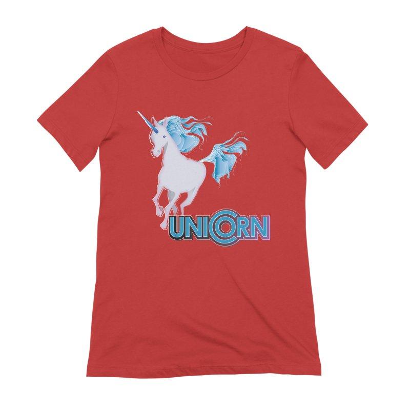 FREAKIN' UNICORN! Women's Extra Soft T-Shirt by heycraig's artist shop