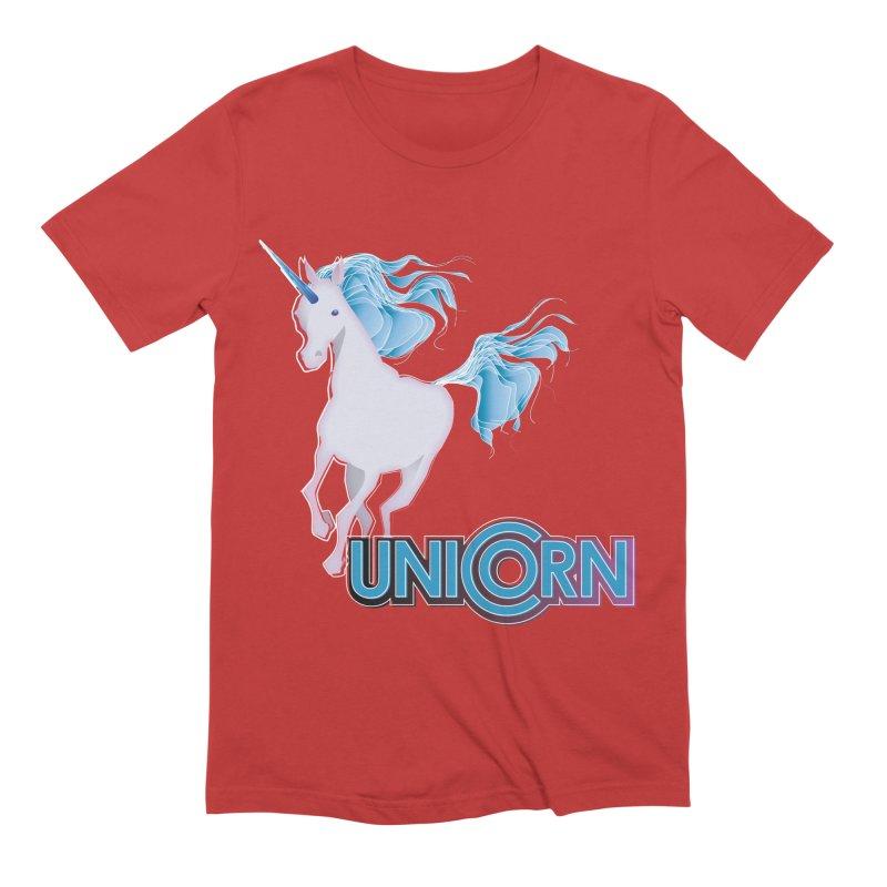 FREAKIN' UNICORN! Men's Extra Soft T-Shirt by heycraig's artist shop