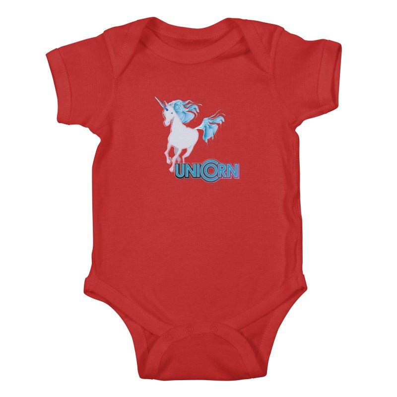FREAKIN' UNICORN! Kids Baby Bodysuit by heycraig's artist shop