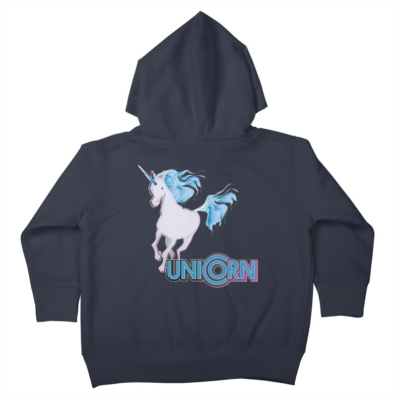 FREAKIN' UNICORN! Kids Toddler Zip-Up Hoody by heycraig's artist shop