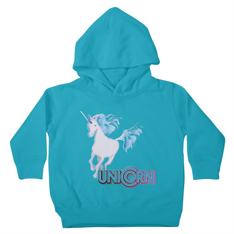 FREAKIN' UNICORN! Kids Toddler Pullover Hoody by heycraig's artist shop