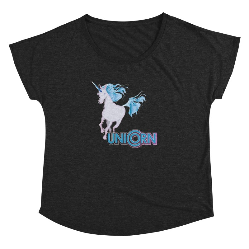 FREAKIN' UNICORN! Women's Dolman Scoop Neck by heycraig's artist shop