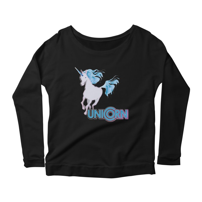 FREAKIN' UNICORN! Women's Scoop Neck Longsleeve T-Shirt by heycraig's artist shop