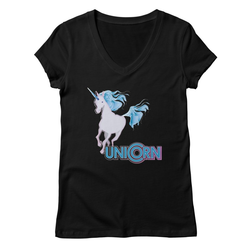 FREAKIN' UNICORN! Women's Regular V-Neck by heycraig's artist shop