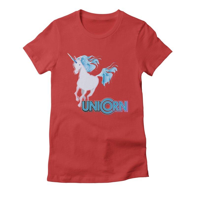 FREAKIN' UNICORN! Women's Fitted T-Shirt by heycraig's artist shop