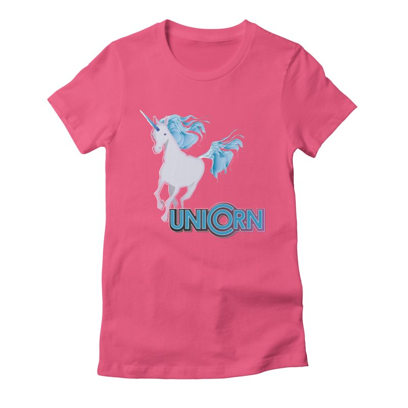 FREAKIN' UNICORN! Women's Fitted T-Shirt by heycraig's artist shop