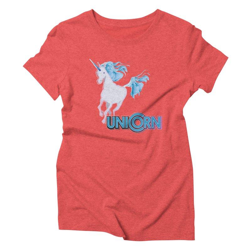FREAKIN' UNICORN! Women's Triblend T-Shirt by heycraig's artist shop