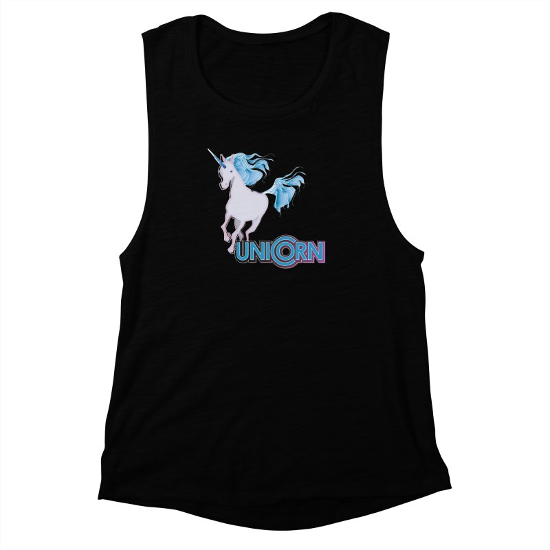 FREAKIN' UNICORN! Women's Muscle Tank by heycraig's artist shop