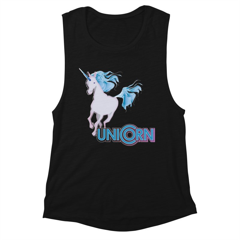 FREAKIN' UNICORN! Women's Muscle Tank by heycraig's artist shop