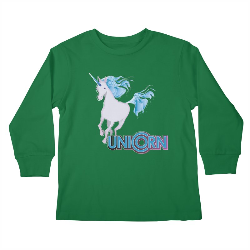 FREAKIN' UNICORN! Kids Longsleeve T-Shirt by heycraig's artist shop