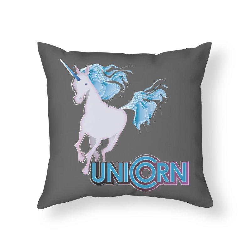 FREAKIN' UNICORN! Home Throw Pillow by heycraig's artist shop