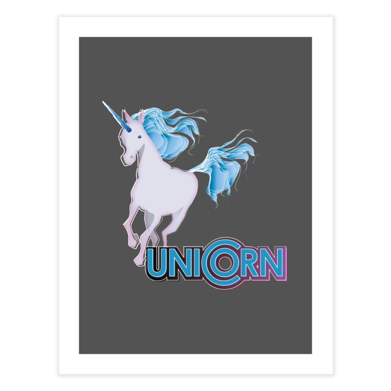 FREAKIN' UNICORN! Home Fine Art Print by heycraig's artist shop