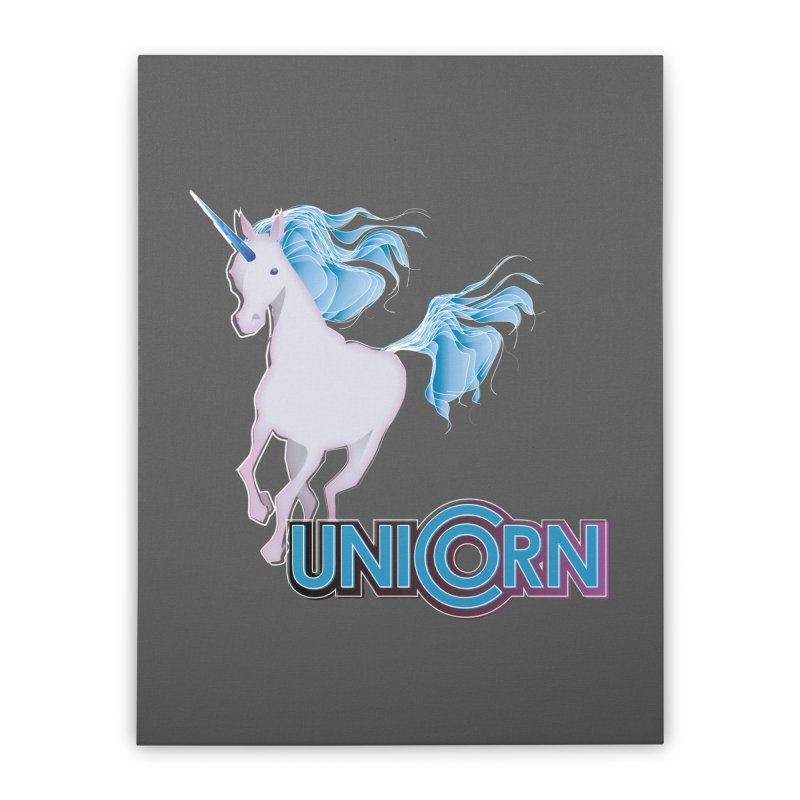FREAKIN' UNICORN! Home Stretched Canvas by heycraig's artist shop