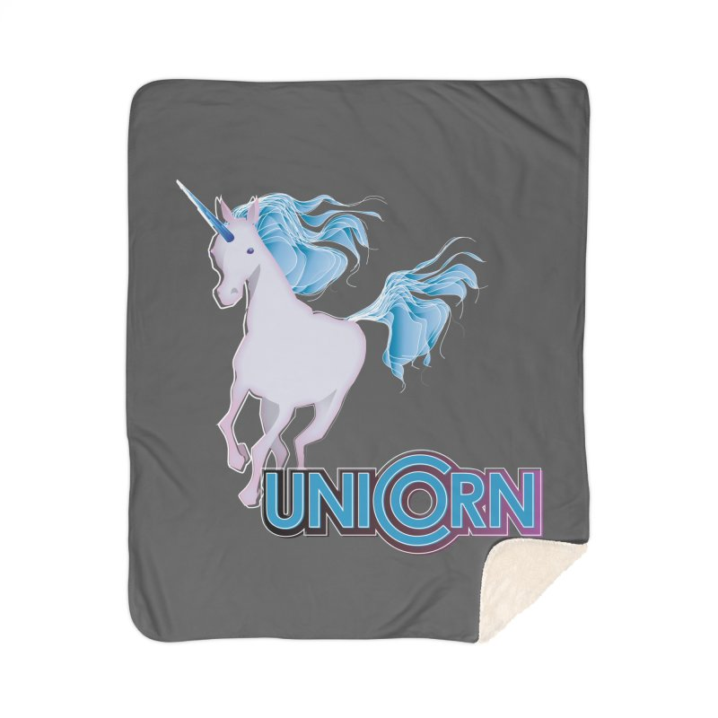 FREAKIN' UNICORN! Home Sherpa Blanket Blanket by heycraig's artist shop