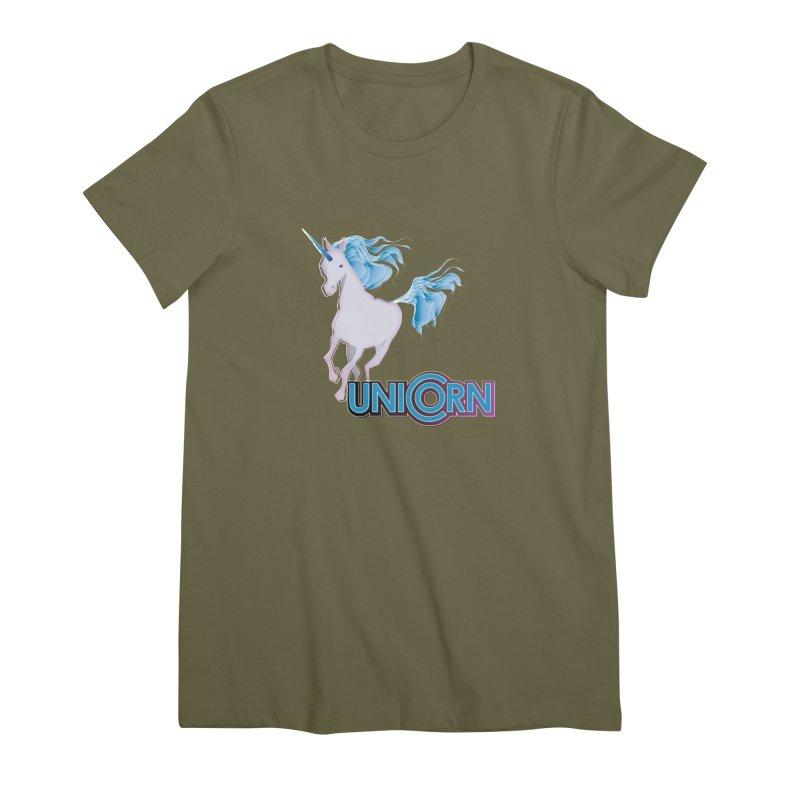 FREAKIN' UNICORN! Women's Premium T-Shirt by heycraig's artist shop
