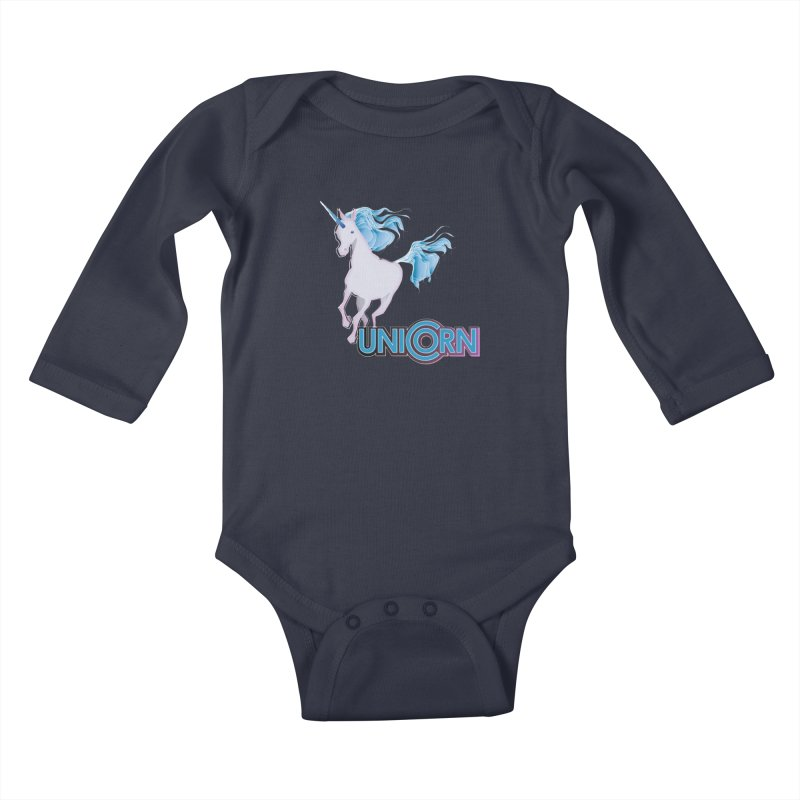 FREAKIN' UNICORN! Kids Baby Longsleeve Bodysuit by heycraig's artist shop