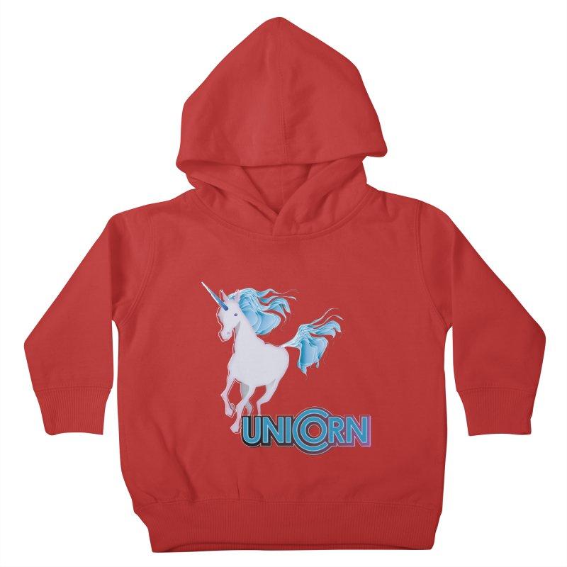 FREAKIN' UNICORN! Kids Toddler Pullover Hoody by heycraig's artist shop