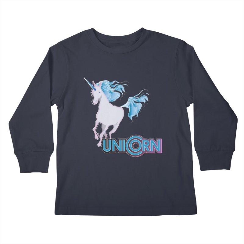 FREAKIN' UNICORN! Kids Longsleeve T-Shirt by heycraig's artist shop