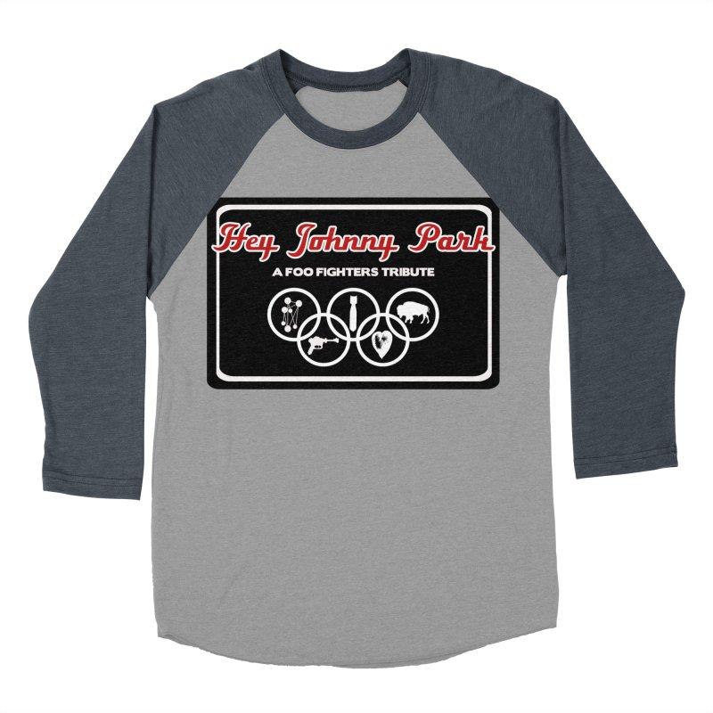 Upper Offset Logo Men's Baseball Triblend Longsleeve T-Shirt by heyjohnnypark's Artist Shop