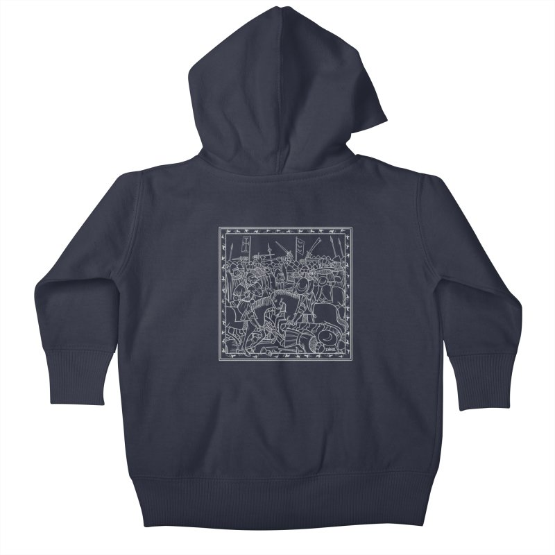 Gray Battle Kids Baby Zip-Up Hoody by Deus Lo Vult Merchandise Store