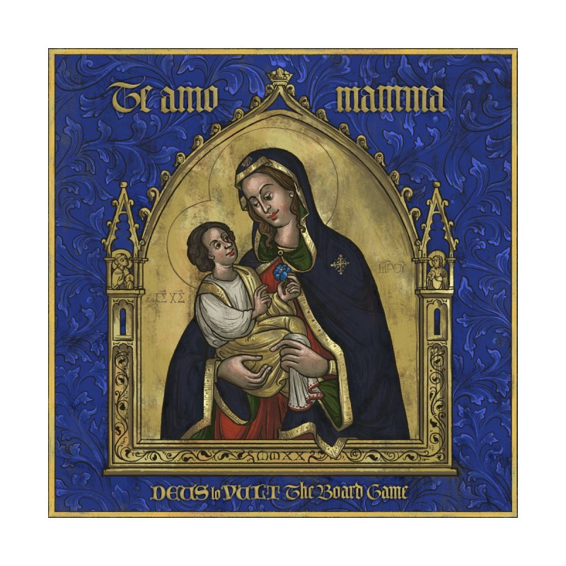 Te Amo Mamma Home Framed Fine Art Print by Deus Lo Vult Merchandise Store