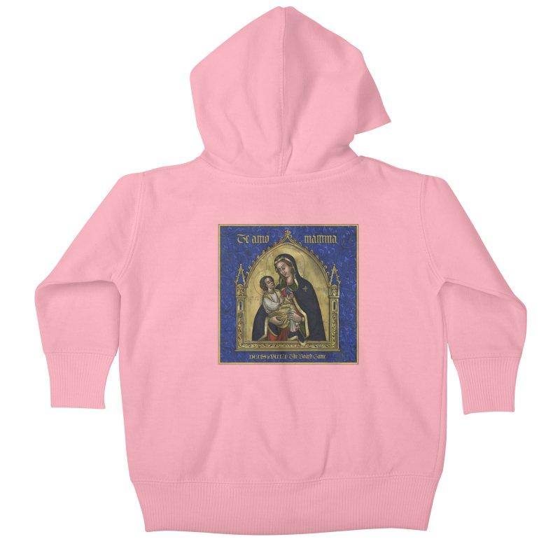 Te Amo Mamma Kids Baby Zip-Up Hoody by Deus Lo Vult Merchandise Store