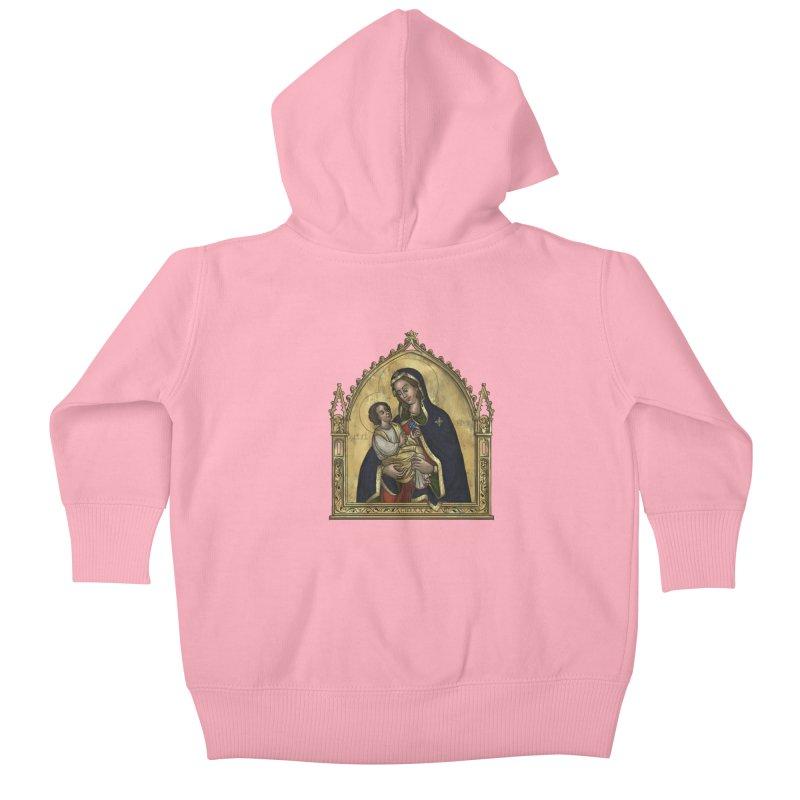 Madonna Kids Baby Zip-Up Hoody by Deus Lo Vult Merchandise Store