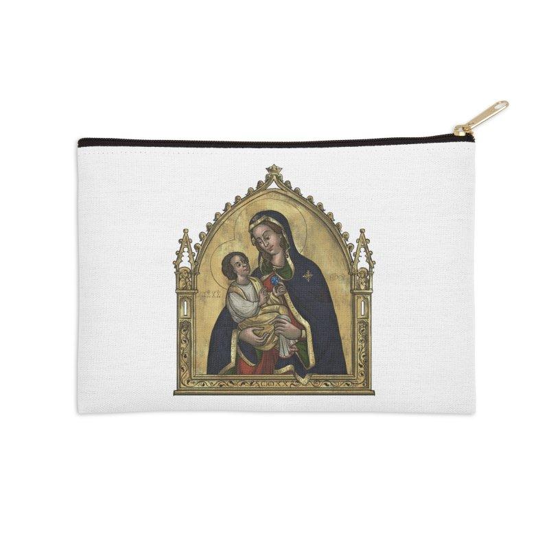 Madonna Accessories Zip Pouch by Deus Lo Vult Merchandise Store