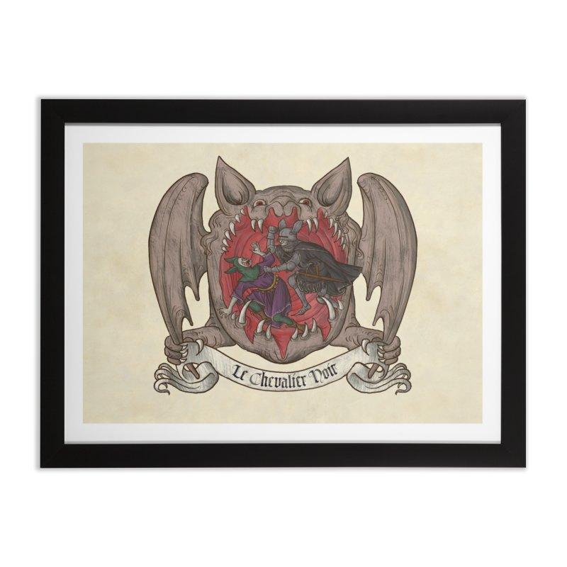 Le Chevalier Noir Home Framed Fine Art Print by Deus Lo Vult Merchandise Store