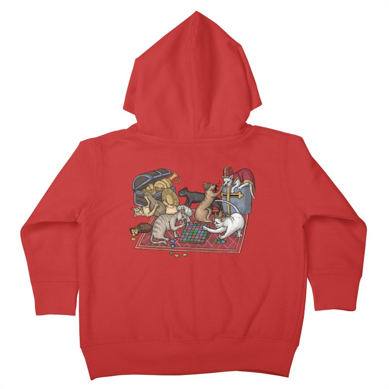 Сatti ludenti #1 Kids Toddler Zip-Up Hoody by Deus Lo Vult Merchandise Store