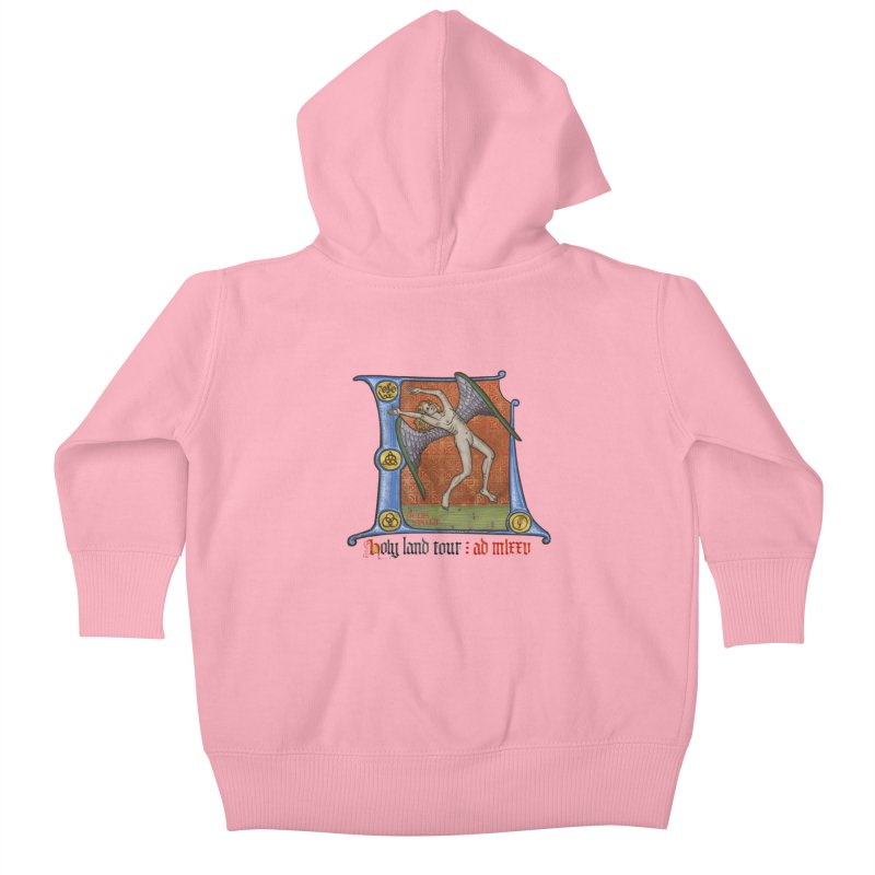 Holy Land Tour Kids Baby Zip-Up Hoody by Deus Lo Vult Merchandise Store