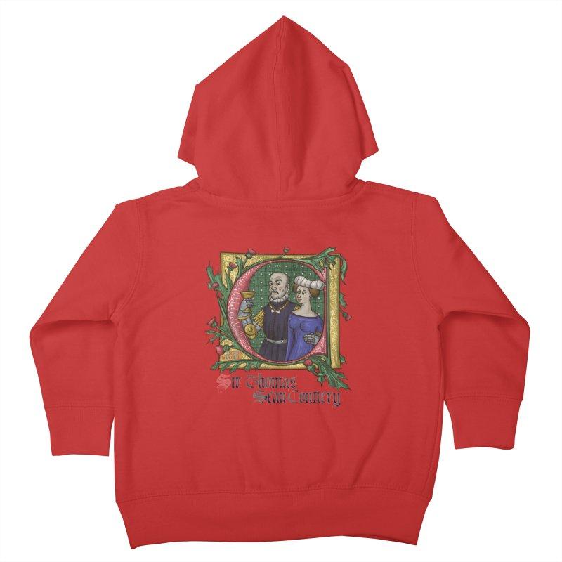 Sir Thomas Sean Connery Tribute Kids Toddler Zip-Up Hoody by Deus Lo Vult Merchandise Store