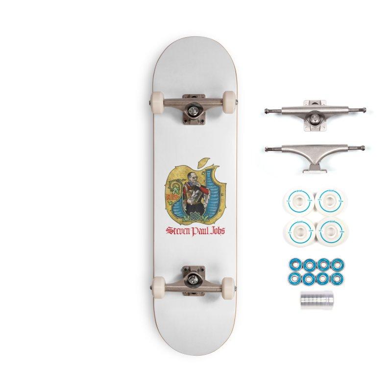 Steven Paul Jobs Tribute Accessories Skateboard by Deus Lo Vult Merchandise Store