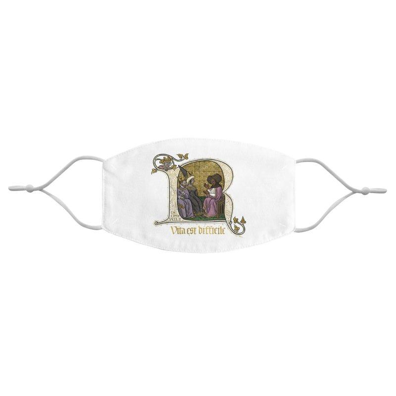 Vita est difficile Accessories Face Mask by Deus Lo Vult Merchandise Store