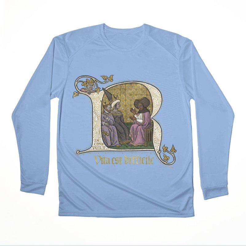 Vita est difficile Men's Longsleeve T-Shirt by Deus Lo Vult Merchandise Store