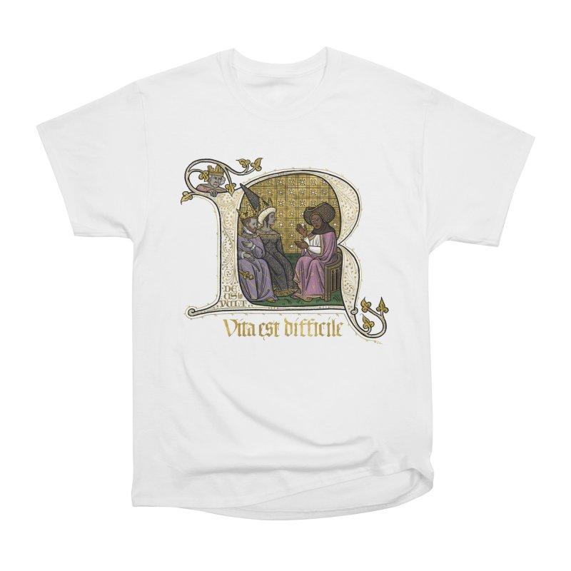 Vita est difficile Women's T-Shirt by Deus Lo Vult Merchandise Store