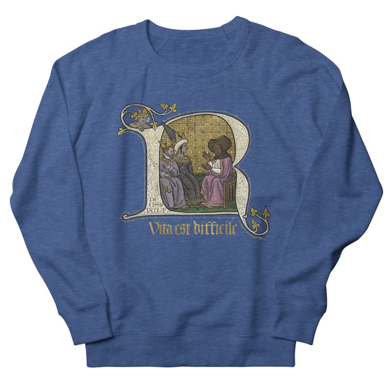 Vita est difficile Men's Sweatshirt by Deus Lo Vult Merchandise Store